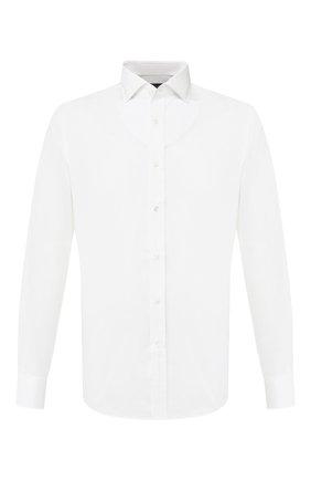 Мужская сорочка из смеси хлопка и шелка RALPH LAUREN белого цвета, арт. 791793746 | Фото 1