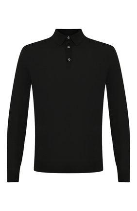 Мужское шерстяное поло ERMENEGILDO ZEGNA черного цвета, арт. UUM00/132 | Фото 1