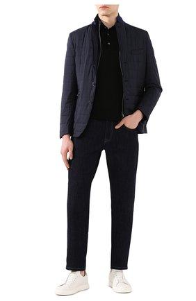 Мужское шерстяное поло ERMENEGILDO ZEGNA черного цвета, арт. UUM00/132 | Фото 2