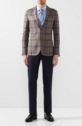 Мужской пиджак из смеси льна и шелка Z ZEGNA коричневого цвета, арт. 754798/1D7SG0 | Фото 2