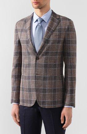 Мужской пиджак из смеси льна и шелка Z ZEGNA коричневого цвета, арт. 754798/1D7SG0 | Фото 3