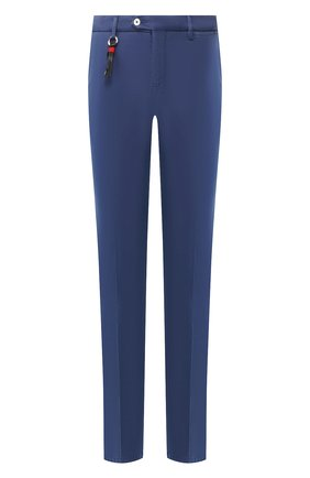 Мужской хлопковые брюки MARCO PESCAROLO синего цвета, арт. SLIM80/4105 | Фото 1