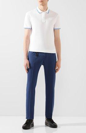 Мужской хлопковые брюки MARCO PESCAROLO синего цвета, арт. SLIM80/4105 | Фото 2