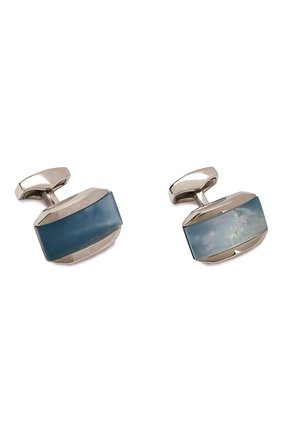 Мужские запонки TATEOSSIAN голубого цвета, арт. CL7421 | Фото 1