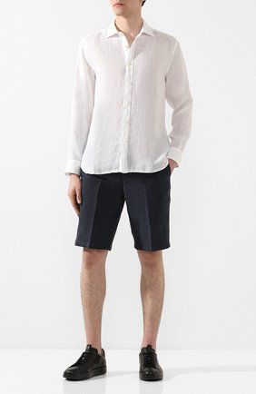 Мужская льняная рубашка 120% LINO белого цвета, арт. R0M1311/B317/000 | Фото 2