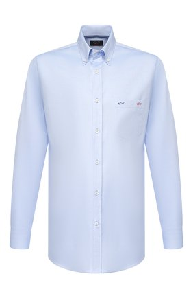 Мужская хлопковая рубашка PAUL&SHARK голубого цвета, арт. P20P3406 | Фото 1