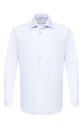 Мужская хлопковая сорочка KITON светло-голубого цвета, арт. UCIH0660502 | Фото 1