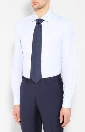 Мужская хлопковая сорочка KITON светло-голубого цвета, арт. UCIH0660502 | Фото 4