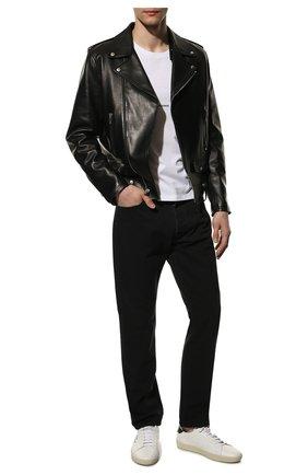 Мужские кожаные кеды court classic sl/06 SAINT LAURENT белого цвета, арт. 610685/08G10 | Фото 2