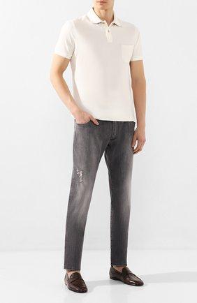 Мужские кожаные лоферы DOLCE & GABBANA коричневого цвета, арт. A50351/AX199 | Фото 2