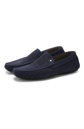Мужские кожаные мокасины ALDO BRUE темно-синего цвета, арт. AB0010G-NS   Фото 1