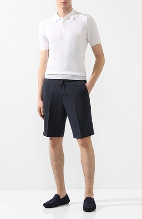 Мужские кожаные мокасины ALDO BRUE темно-синего цвета, арт. AB0010G-NS   Фото 2
