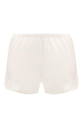 Женские шелковые шорты COTTON CLUB кремвого цвета, арт. 8VA | Фото 1