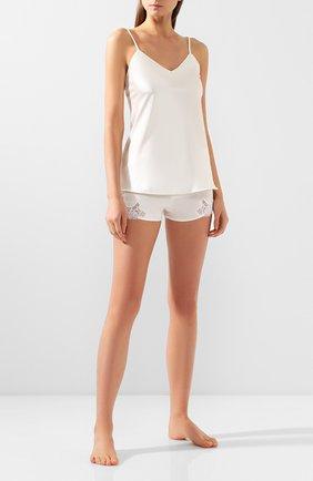 Женские шелковые шорты COTTON CLUB кремвого цвета, арт. 8VA | Фото 2