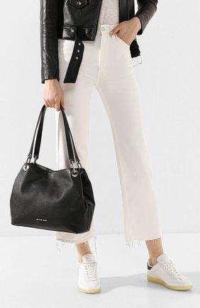 Женская сумка-тоут raven large MICHAEL MICHAEL KORS черного цвета, арт. 30H6SRXE3L   Фото 2