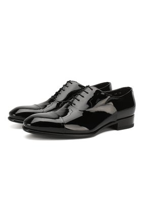 Мужские кожаные оксфорды SANTONI черного цвета, арт. MCCR12621BC3JVERN01 | Фото 1