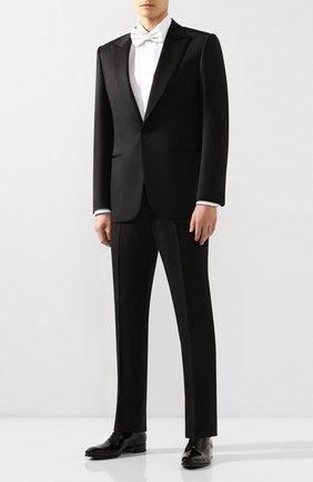 Мужские кожаные оксфорды SANTONI черного цвета, арт. MCCR12621BC3JVERN01 | Фото 2