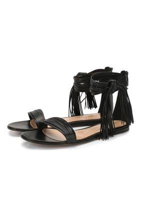 Женские кожаные сандалии noelle GIANVITO ROSSI черного цвета, арт. G61557.05CU0.NAPNER0   Фото 1