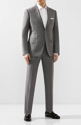 Мужские кожаные лоферы SANTONI черного цвета, арт. MCCL17111RB2I0BRN01 | Фото 2