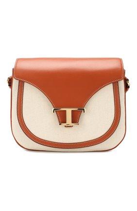 Женская сумка t singola TOD'S бежевого цвета, арт. XBWTSIC0100NWR | Фото 1