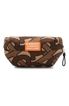 Мужская текстильная поясная сумка sonny BURBERRY коричневого цвета, арт. 8025603 | Фото 1