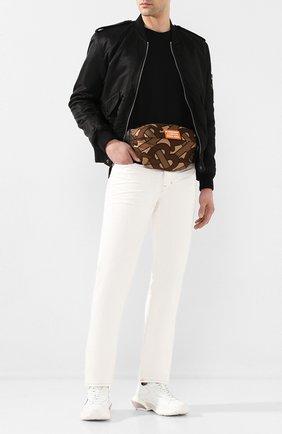 Мужская текстильная поясная сумка sonny BURBERRY коричневого цвета, арт. 8025603 | Фото 2