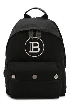 Мужской текстильный рюкзак b-back BALMAIN черного цвета, арт. TM1S096/TNYV   Фото 1