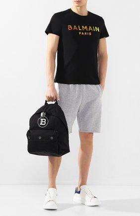 Мужской текстильный рюкзак b-back BALMAIN черного цвета, арт. TM1S096/TNYV   Фото 2
