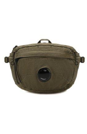 Мужская текстильная поясная сумка C.P. COMPANY хаки цвета, арт. 08CMAC037A-005269G | Фото 1