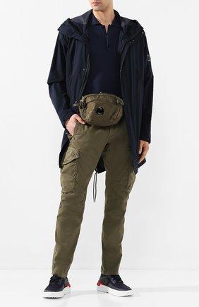 Мужская текстильная поясная сумка C.P. COMPANY хаки цвета, арт. 08CMAC037A-005269G | Фото 2