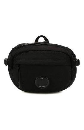 Мужская текстильная поясная сумка C.P. COMPANY черного цвета, арт. 08CMAC037A-005269G | Фото 1