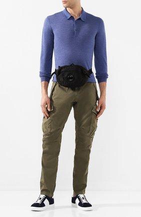 Мужская текстильная поясная сумка C.P. COMPANY черного цвета, арт. 08CMAC037A-005269G | Фото 2