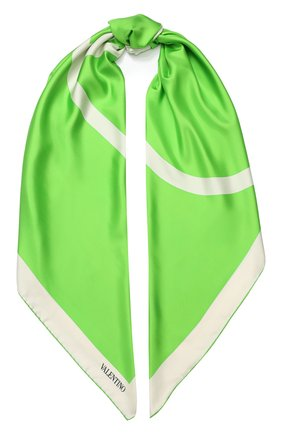 Женский шелковый платок valentino garavani VALENTINO зеленого цвета, арт. TW0EB104/MPT | Фото 1