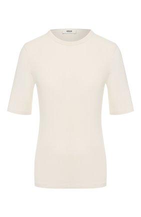 Женская хлопковая футболка AGOLDE белого цвета, арт. A7049 | Фото 1