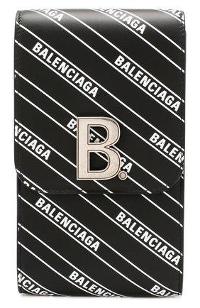 Мужская кожаная сумка BALENCIAGA черно-белого цвета, арт. 600201/1NH6Y | Фото 1