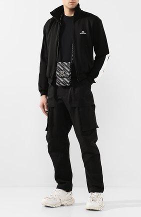 Мужская кожаная сумка BALENCIAGA черно-белого цвета, арт. 600201/1NH6Y | Фото 2