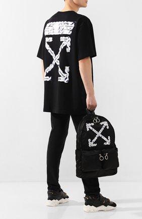 Мужской текстильный рюкзак OFF-WHITE черного цвета, арт. 0MNB003S20E480031088 | Фото 2