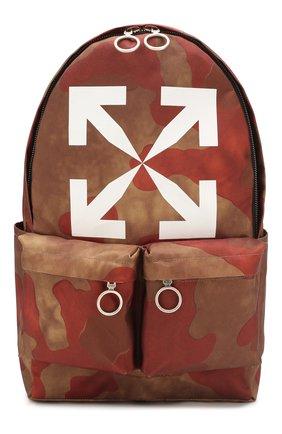 Мужской текстильный рюкзак OFF-WHITE коричневого цвета, арт. 0MNB003S205210259901 | Фото 1