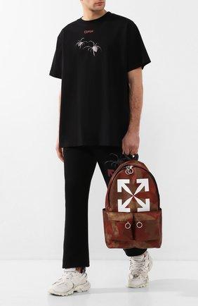 Мужской текстильный рюкзак OFF-WHITE коричневого цвета, арт. 0MNB003S205210259901 | Фото 2