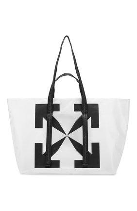Мужская сумка-шопер OFF-WHITE белого цвета, арт. 0MNA054S20H070259810 | Фото 1