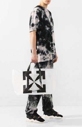 Мужская сумка-шопер OFF-WHITE белого цвета, арт. 0MNA054S20H070259810 | Фото 2