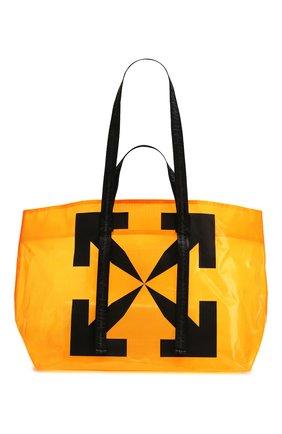 Мужская сумка-шопер OFF-WHITE оранжевого цвета, арт. 0MNA054S20H070251910 | Фото 1