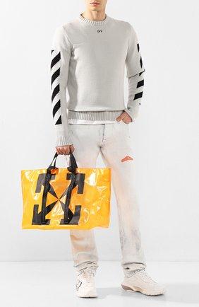 Мужская сумка-шопер OFF-WHITE оранжевого цвета, арт. 0MNA054S20H070251910 | Фото 2