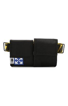 Мужская текстильная поясная сумка OFF-WHITE черного цвета, арт. 0MKN012S20H590411060 | Фото 1