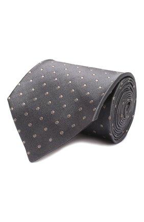 Мужской шелковый галстук TOM FORD серебряного цвета, арт. 7TF71/XT0 | Фото 1 (Материал: Текстиль, Шелк; Принт: С принтом)