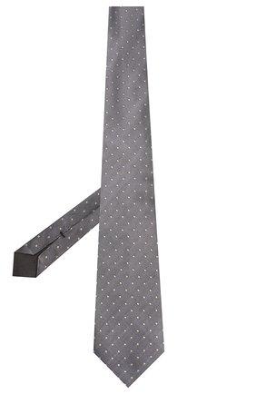 Мужской шелковый галстук TOM FORD серебряного цвета, арт. 7TF71/XT0 | Фото 2 (Материал: Текстиль, Шелк; Принт: С принтом)