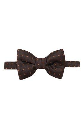 Мужской шелковый галстук-бабочка TOM FORD коричневого цвета, арт. 7TF71/4CH | Фото 1