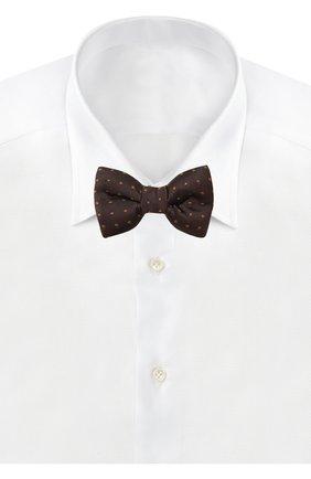 Мужской шелковый галстук-бабочка TOM FORD коричневого цвета, арт. 7TF71/4CH | Фото 2