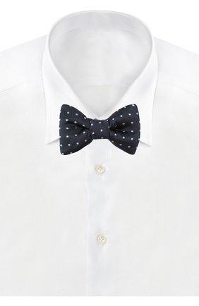 Мужской шелковый галстук-бабочка TOM FORD синего цвета, арт. 7TF71/4CH | Фото 2