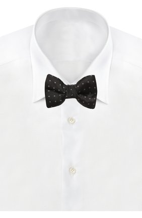 Мужской шелковый галстук-бабочка TOM FORD черного цвета, арт. 7TF71/4CH | Фото 2